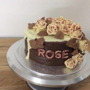Chocoholics rose cake