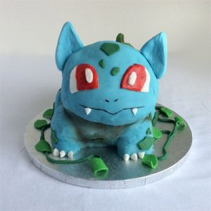 3D pokemon sculpted, Bulbasaur cake