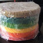 Rainbow cake sponges