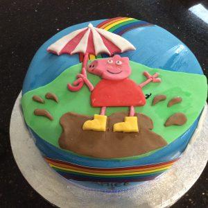 Peppa pig cake puddle jumping