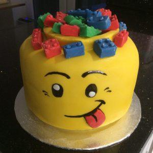 lego head cake £40